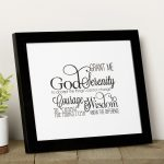 Scripted Serenity Prayer Framed Print | The Catholic Company   Free Printable Serenity Prayer