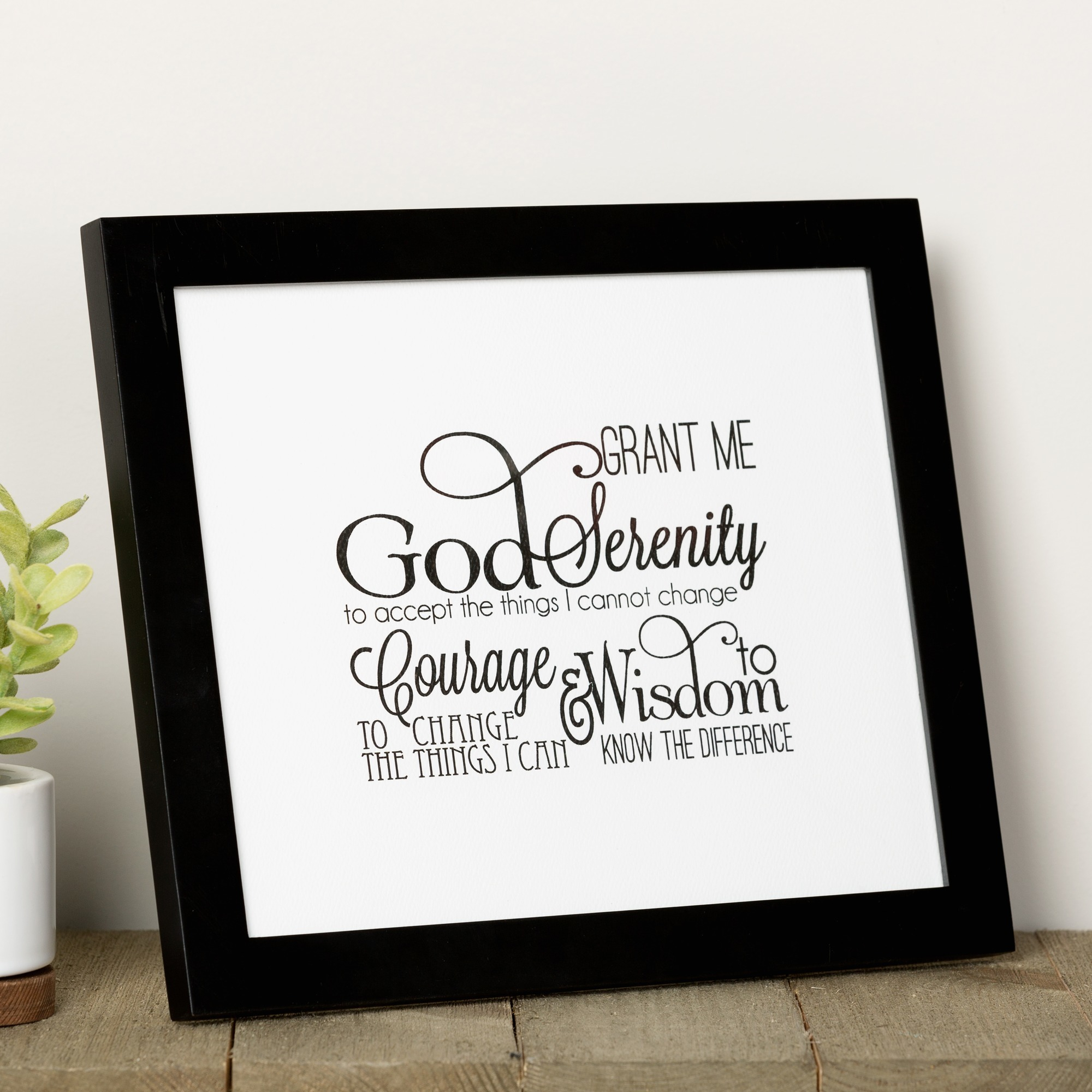 Scripted Serenity Prayer Framed Print | The Catholic Company - Free Printable Serenity Prayer