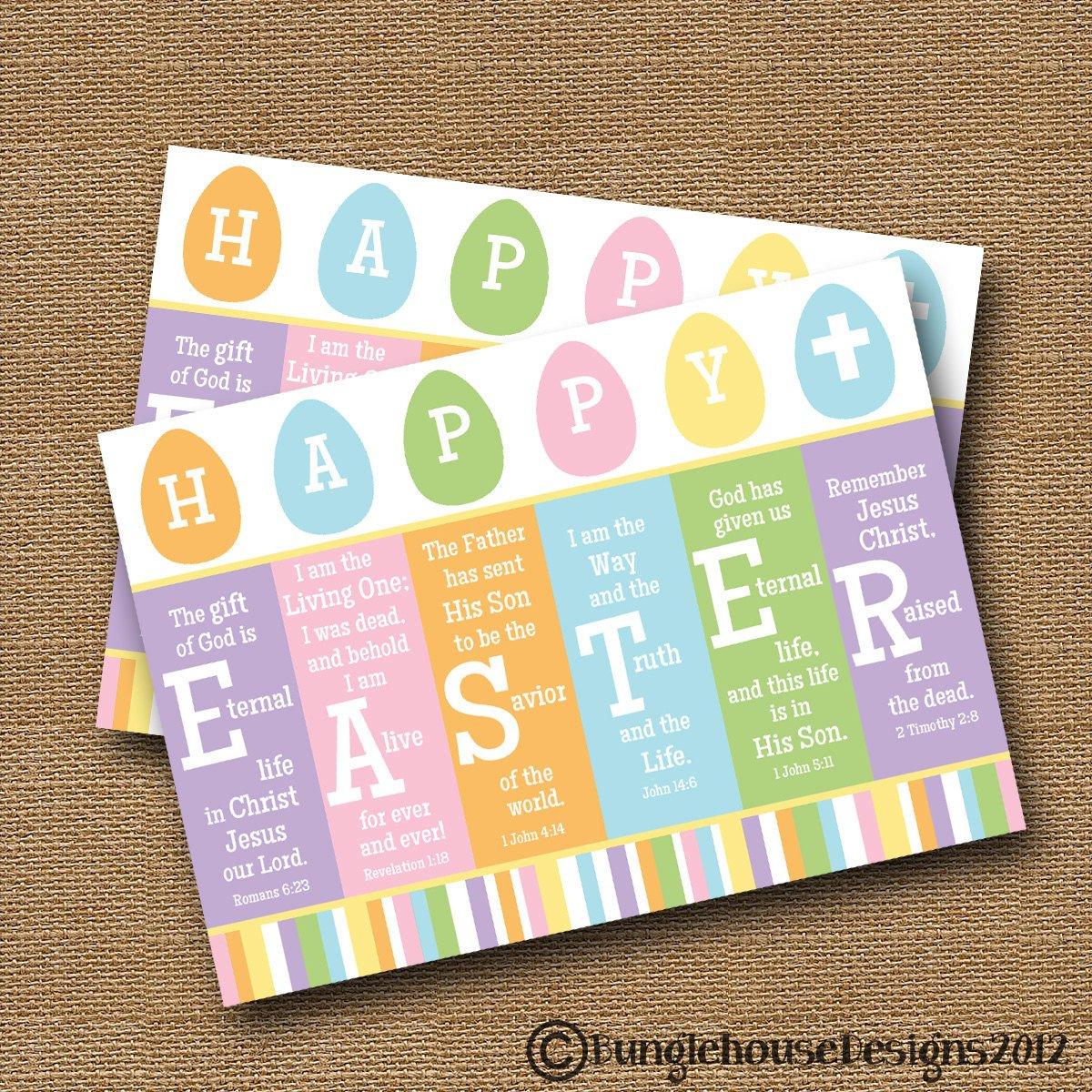 Scripture Easter Card Printable Easter Card Diy Printable | Etsy - Free Printable Religious Easter Bookmarks