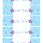 Sea Water Water Bottle Labels | Holiday   Birthday Party | Pinterest   Free Printable Little Mermaid Water Bottle Labels
