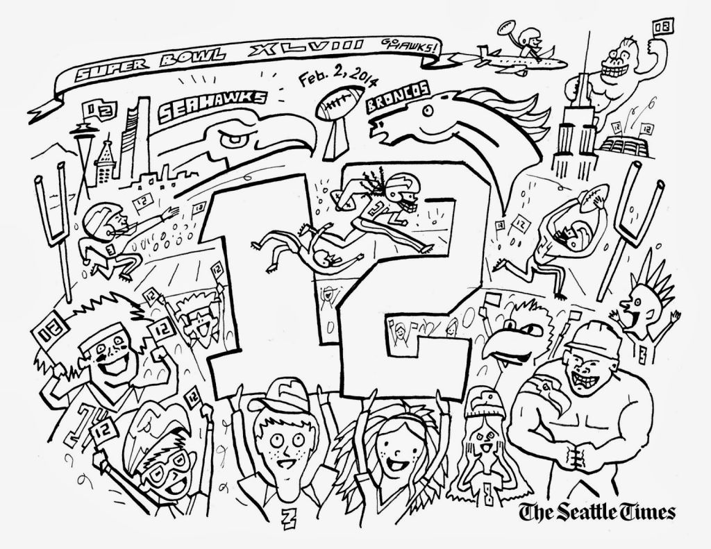 Seahawks Coloring Page   Coloring Pages   Pinterest   Seahawks - Free Printable Seahawks Coloring Pages