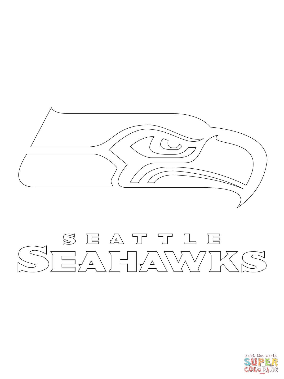 Seattle Seahawks Logo   Super Coloring   Books Worth Reading - Free Printable Seahawks Coloring Pages