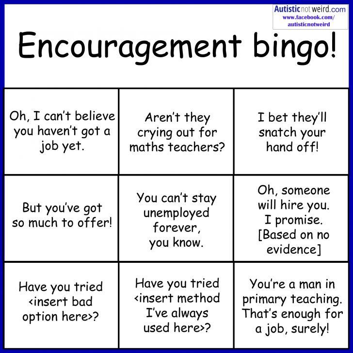 Free Printable Self Esteem Bingo