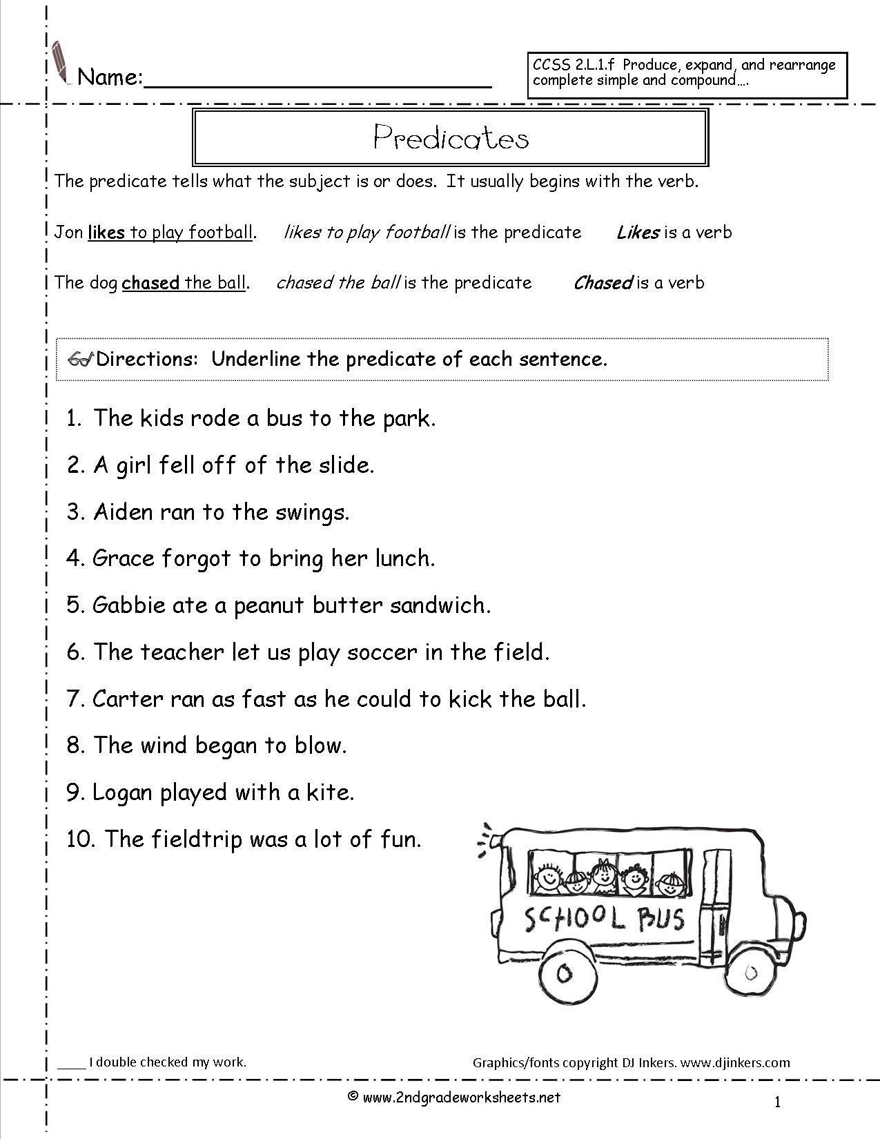 Sentence Correction Worksheets 2Nd Grade To Download Free - Math - Free Printable Sentence Correction Worksheets