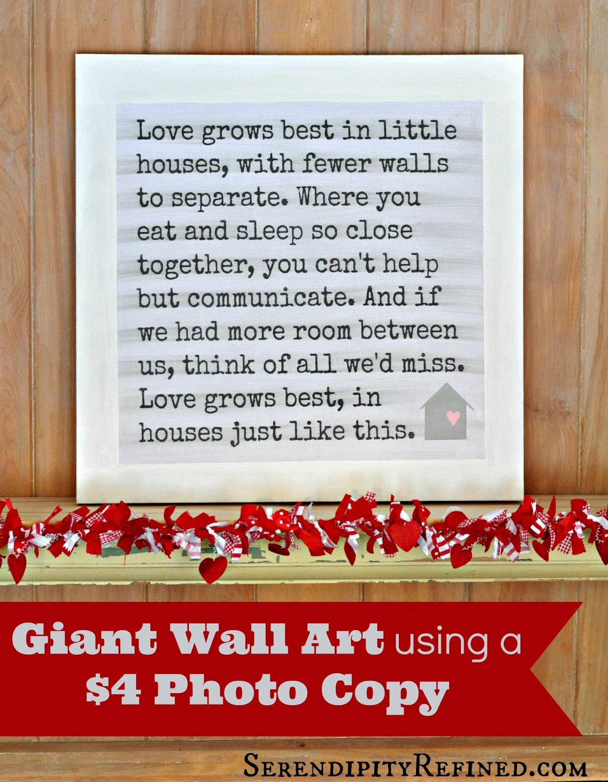 Serendipity Refined Blog: Little Houses Poem Canvas Wall Art: Free - Free Printable Romantic Poems