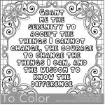 Serenity' Coloring Page For Grown Ups   This Is A Printable Pdf   Free Printable Serenity Prayer