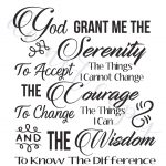 Serenity Prayer Digital Vector Files, Instant Download For Print And   Free Printable Serenity Prayer