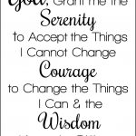 Serenity Prayer Printable | Christian Counseling And Coaching   Free Printable Serenity Prayer