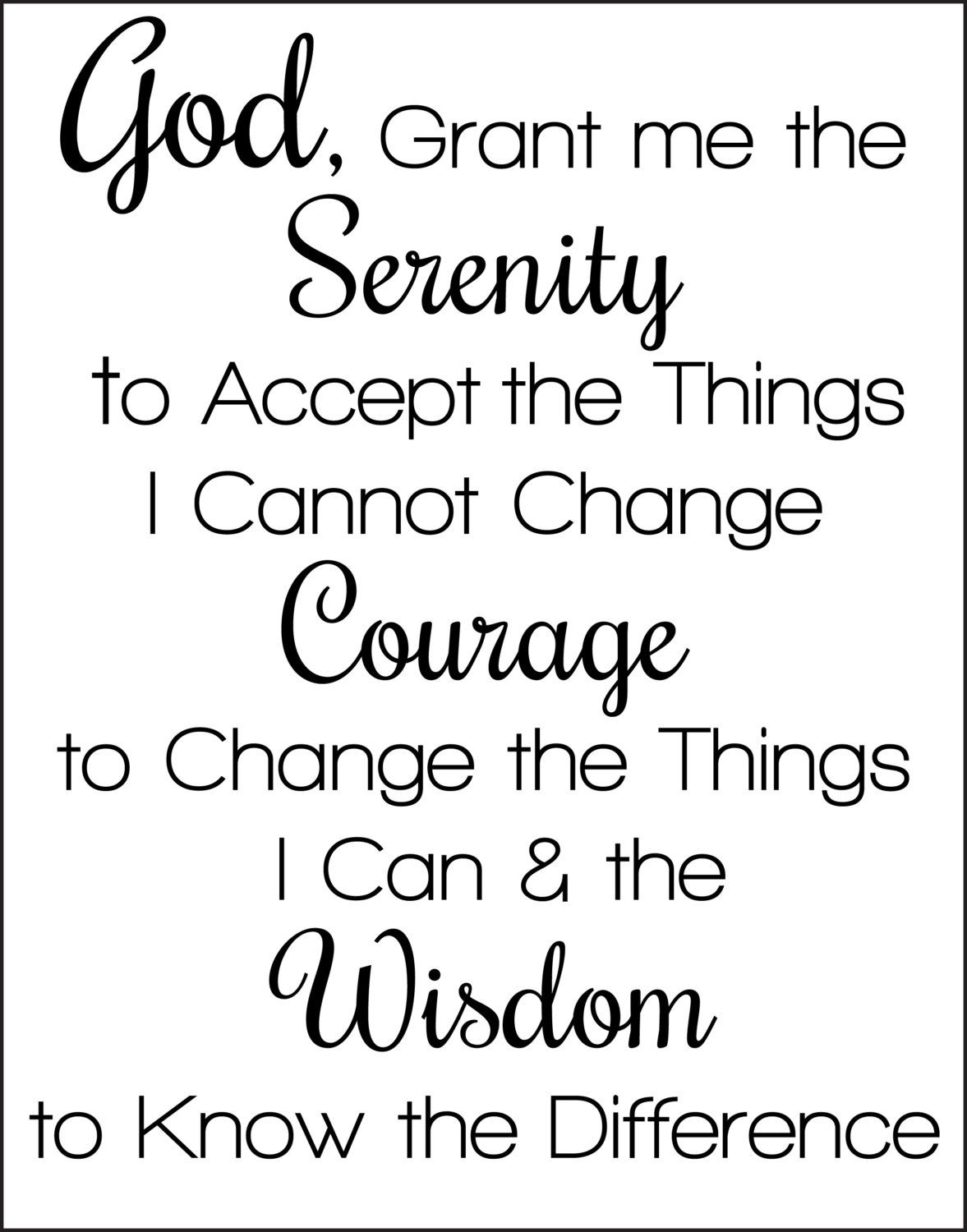 Serenity Prayer Printable | Christian Counseling And Coaching - Free Printable Serenity Prayer