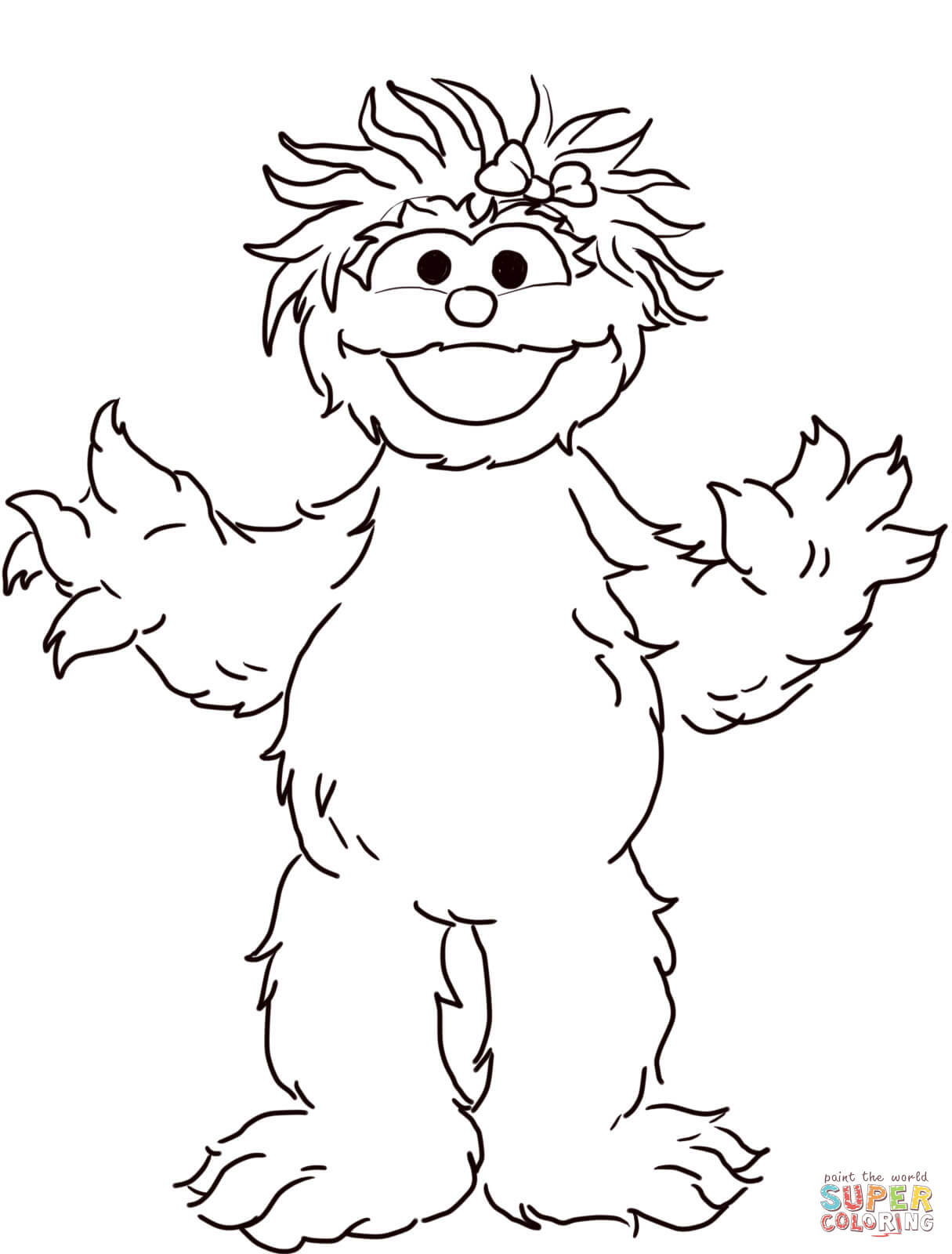 Sesame Street Rosita Coloring Page   Free Printable Coloring Pages - Free Printable Sesame Street Coloring Pages