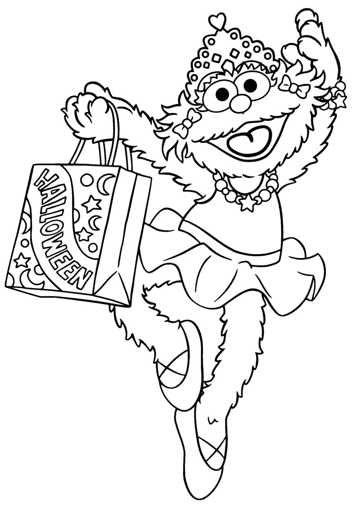 Sesame Street To Print For Free - Sesame Street Kids Coloring Pages - Free Printable Sesame Street Coloring Pages