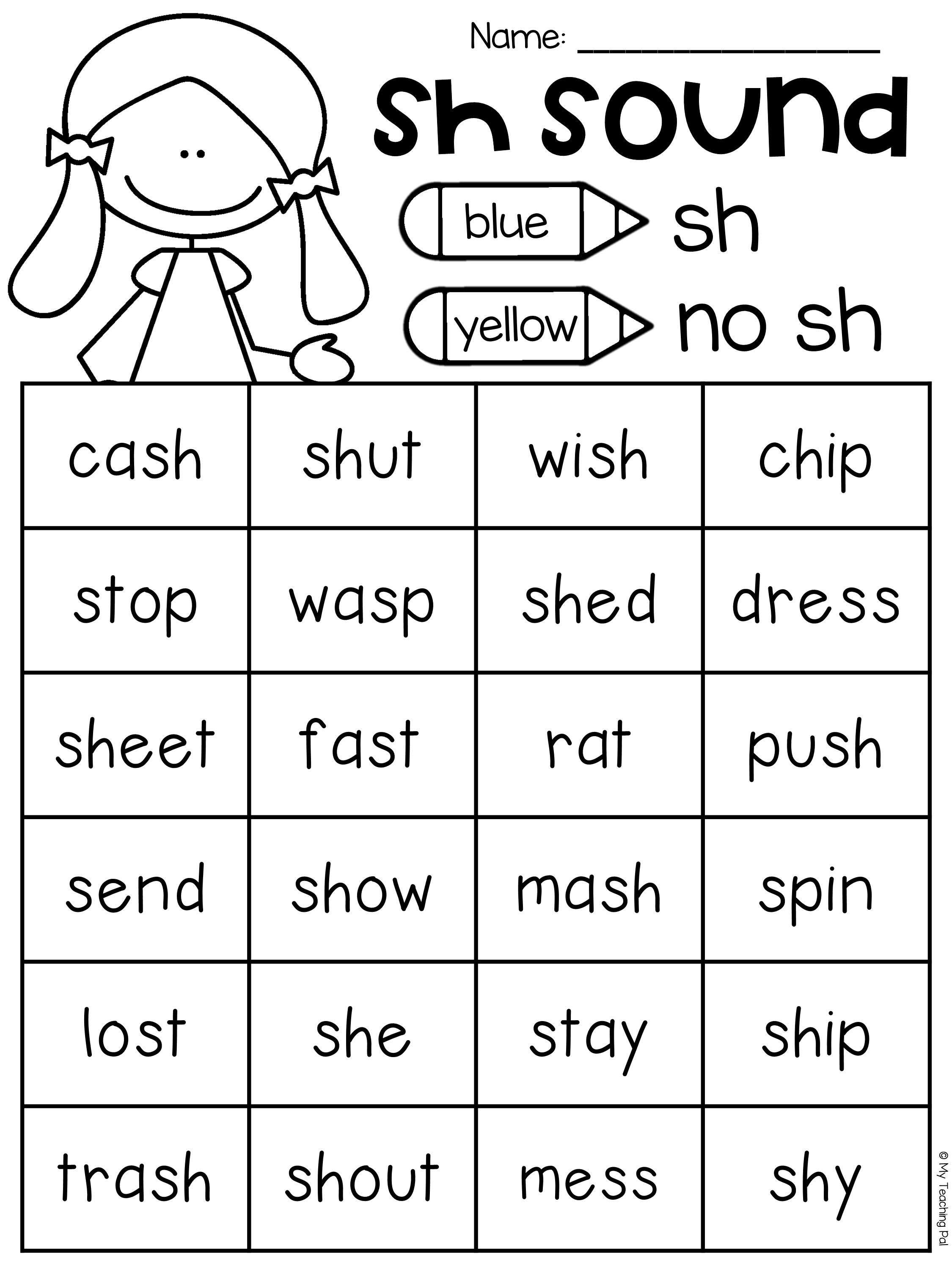 Sh Worksheet Packet - Digraphs Worksheets - Sh Worksheets Free Printable