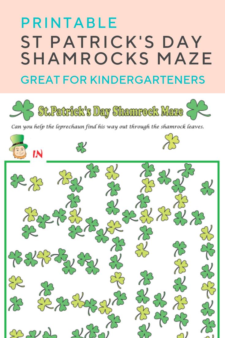 Shamrocks Maze | St. Patrick's Day | Pinterest | Maze Worksheet - Free Printable St Patrick's Day Mazes