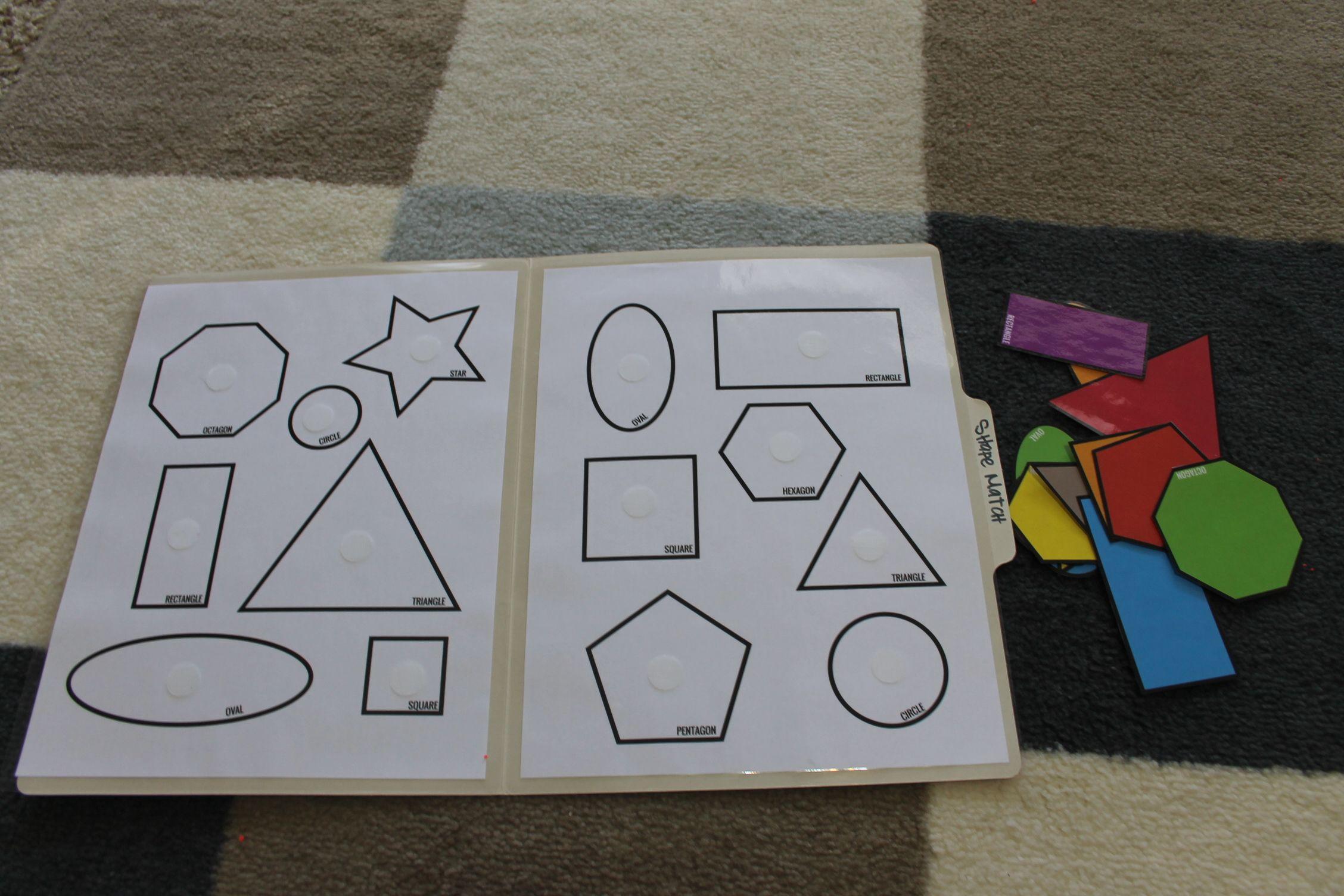Shape-Match-Toddler-Pre-K-File-Folder-Game-Open   Preschool   Folder - Free Printable Preschool Folder Games
