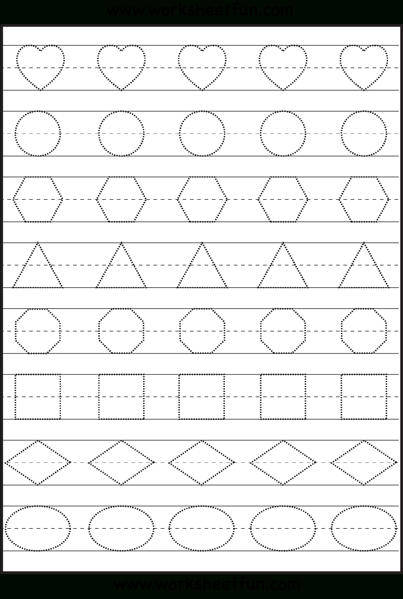 Shape Tracing, Letters & More - Lots Of Preschool Tracing, Practice - Free Printable Same And Different Worksheets