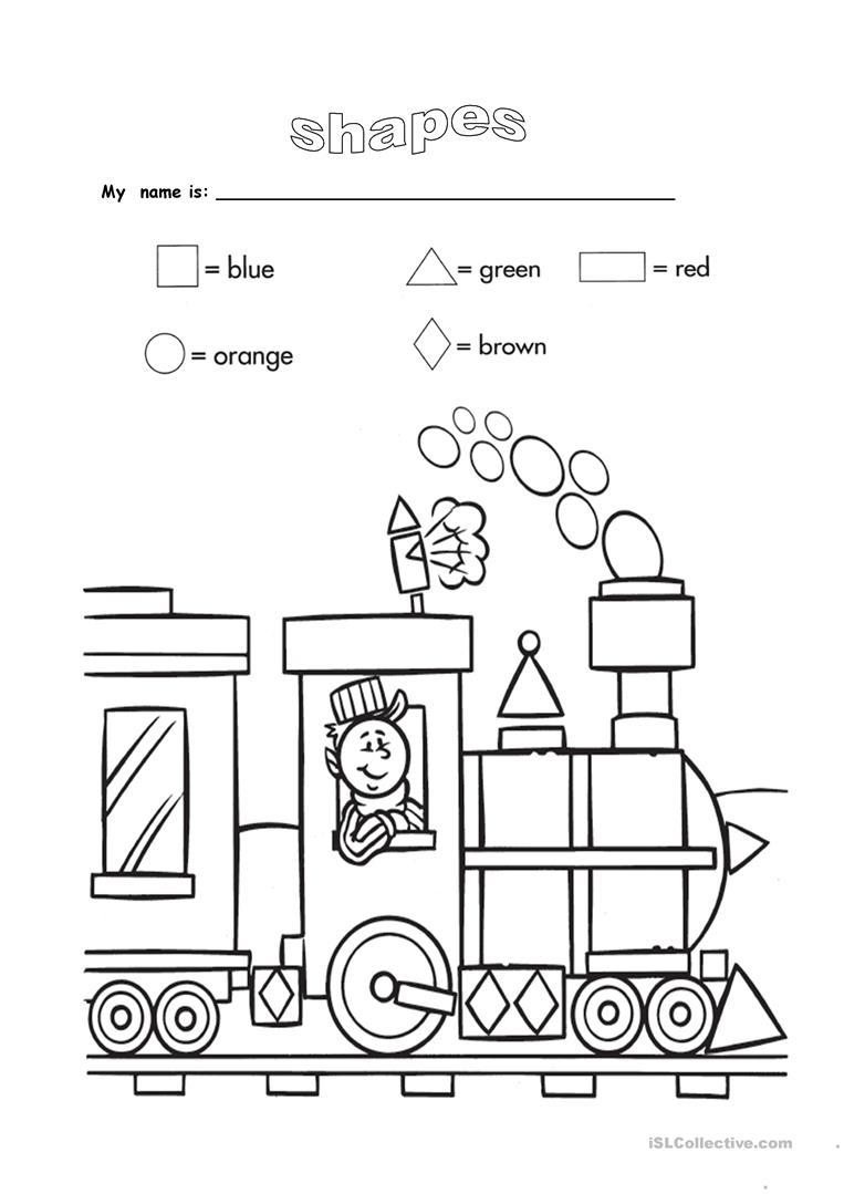 Shapes And Colours Worksheet - Free Esl Printable Worksheets Made - Free Printable Shapes Worksheets