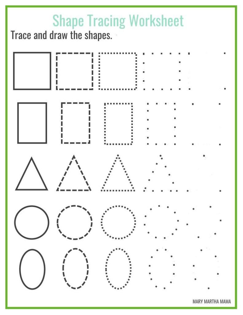 Shapes Worksheets For Preschool [Free Printables] – Mary Martha Mama - Free Printable Drawing Worksheets