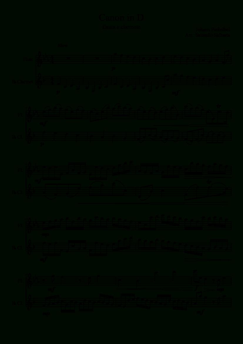 Sheet Music Madesalomas For 2 Parts: Flute, B♭ Clarinet - Free Sheet Music For Clarinet Printable