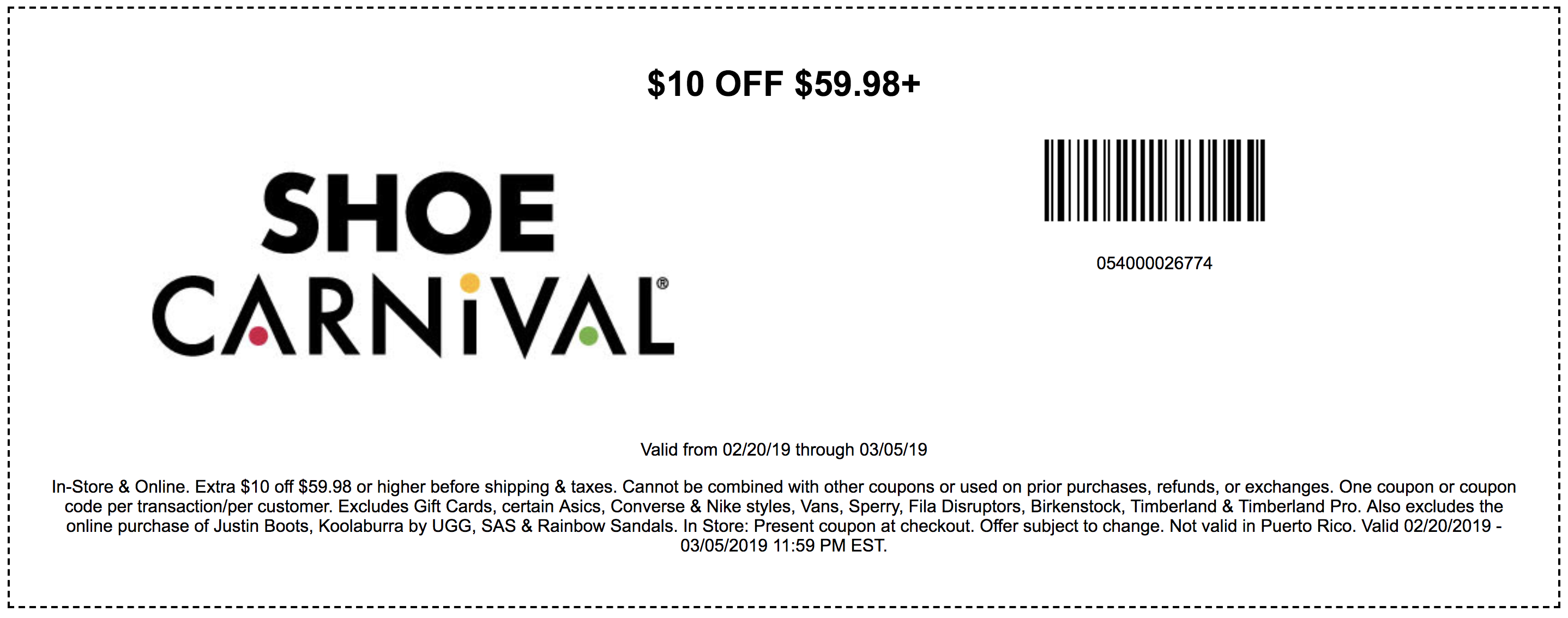 Shoe Carnival Coupons In Store (Printable Coupons) - 2019 - Free Printable Coupons For Dsw Shoes