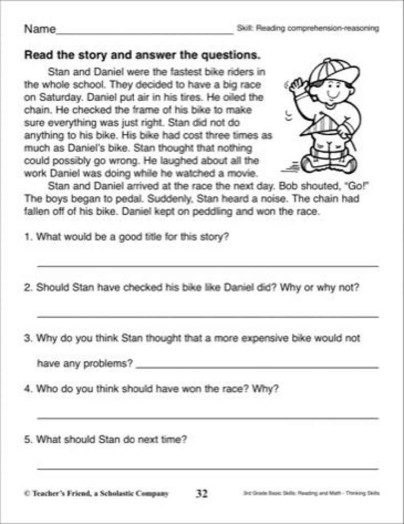 Short Story With Comprehension Questions: 3Rd Grade Reading Skills - Free Printable Short Stories For Grade 3