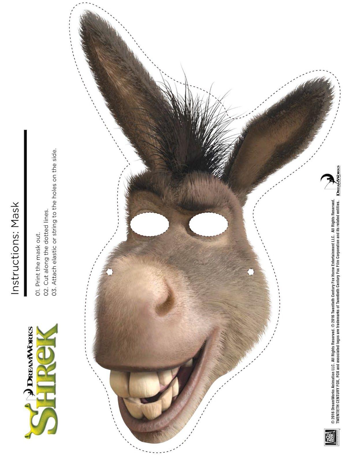 Shrek Photo Booth Props: Free Printable Shrek Mask   Shrek Birthday - Free Printable Shrek Birthday Invitations