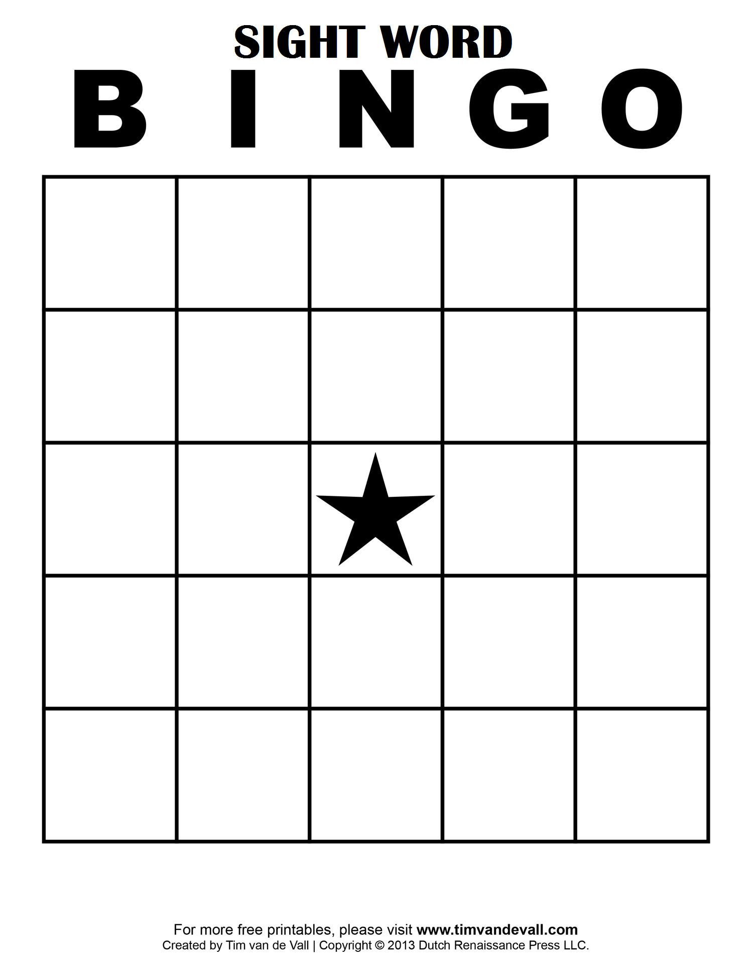 Sight Word Bingo …   School Classroom Ideas   Pinte… - Free Printable Bingo Cards With Numbers