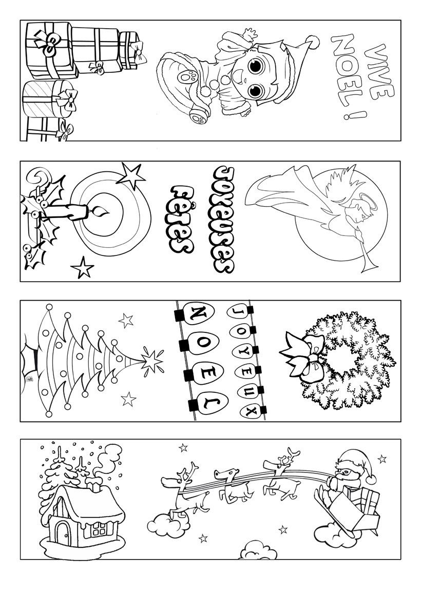 Signets-Noel-A-Colorier | Coloring Page | Pinterest | Bookmarks Kids - Free Printable Christmas Bookmarks To Color