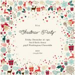 """Signs Of The Season"""" Printable Invitation. Customize, Add Text And   Free Printable Personalized Christmas Invitations"""