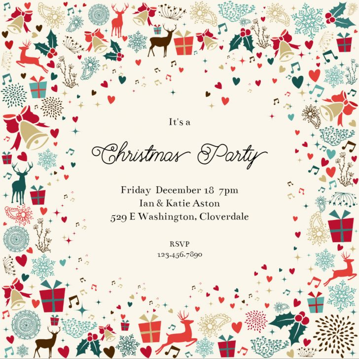 Free Printable Personalized Christmas Invitations