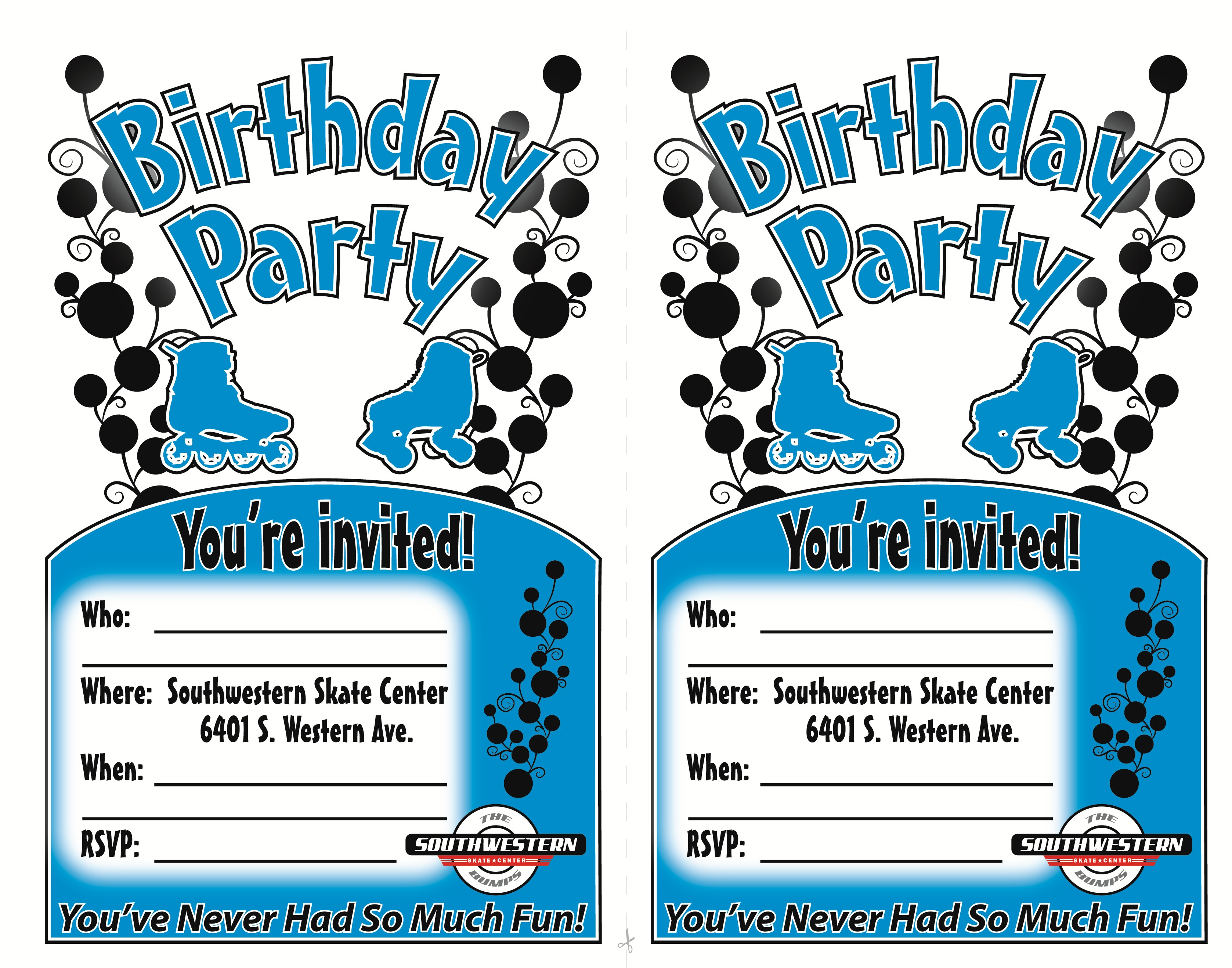 Skating Party Invitations Skate Pa Ideal Free Printable Roller - Free Printable Roller Skate Template