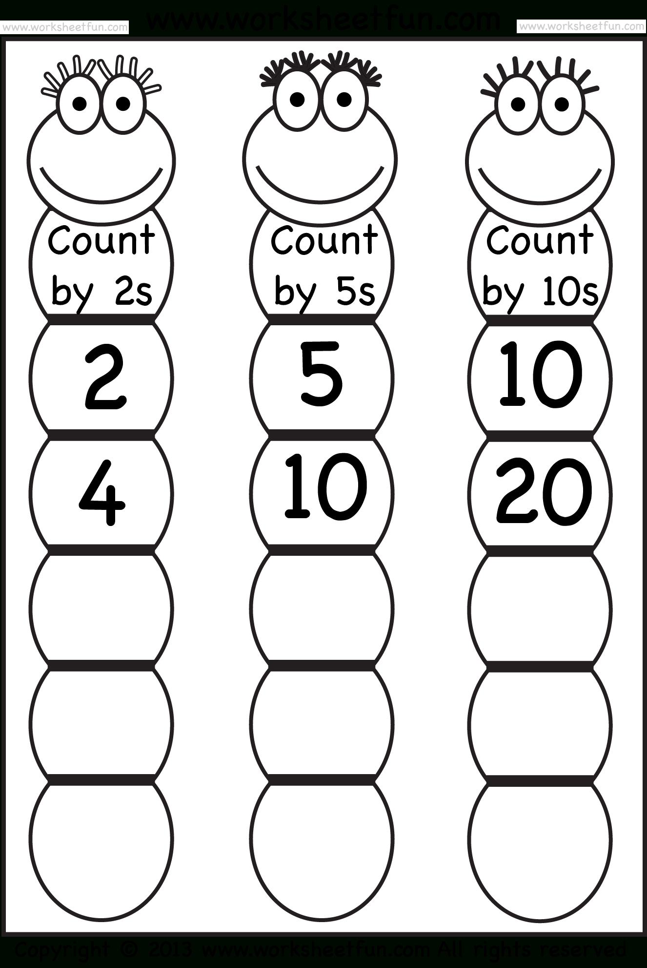 Skip Counting2, 5 And 10 – Worksheet / Free Printable Worksheets - Free Printable Skip Counting Worksheets