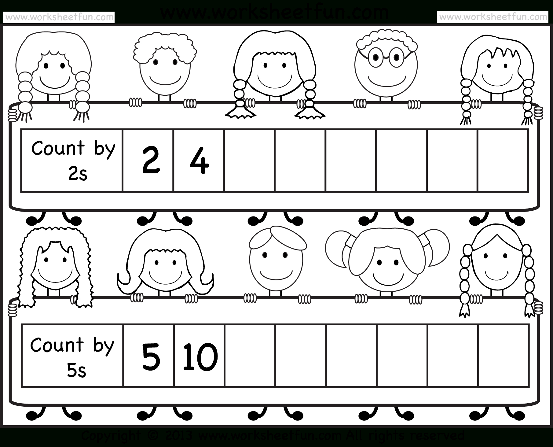 Skip Counting2 And 5 – Worksheet / Free Printable Worksheets - Free Printable Skip Counting Worksheets