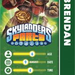 Skylanders Birthday Party Invitations | Birthdaybuzz   Free Printable Skylander Invitations