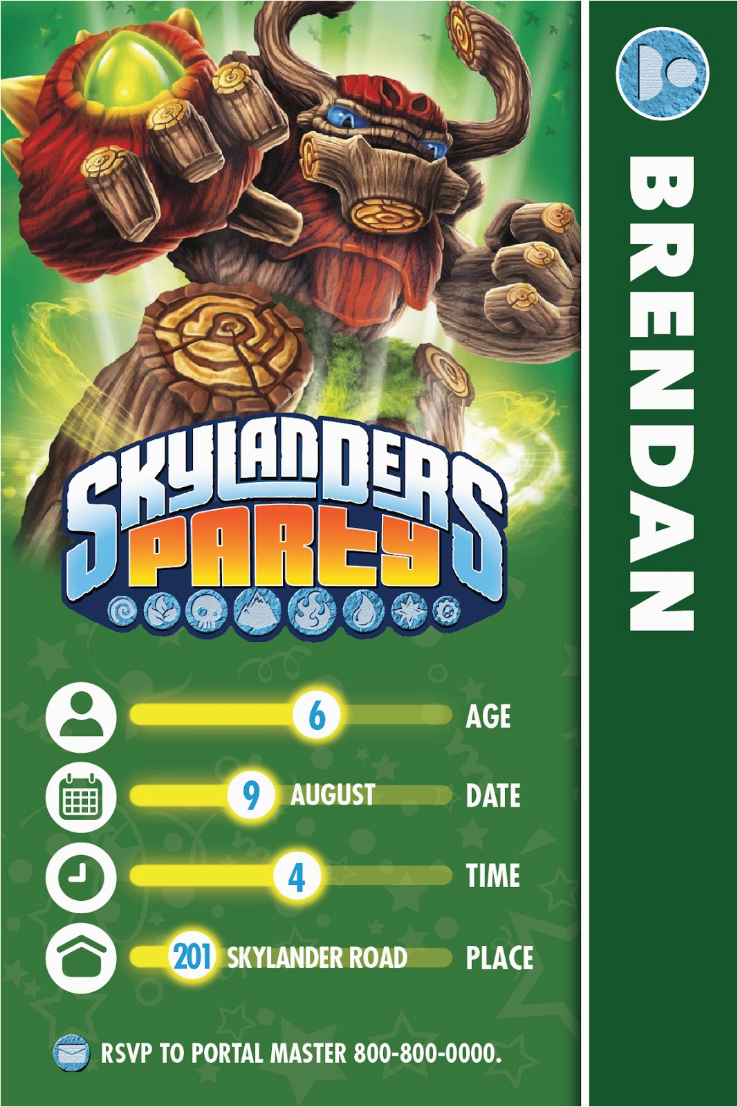 Skylanders Birthday Party Invitations | Birthdaybuzz - Free Printable Skylander Invitations