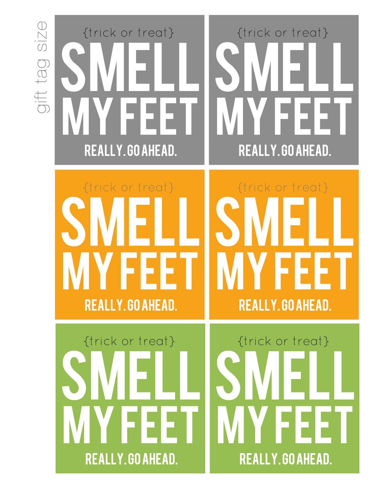 Smell My Feet! (Free Printable / Halloween Gift) - My Sister's - Free Printable Halloween Homework Pass