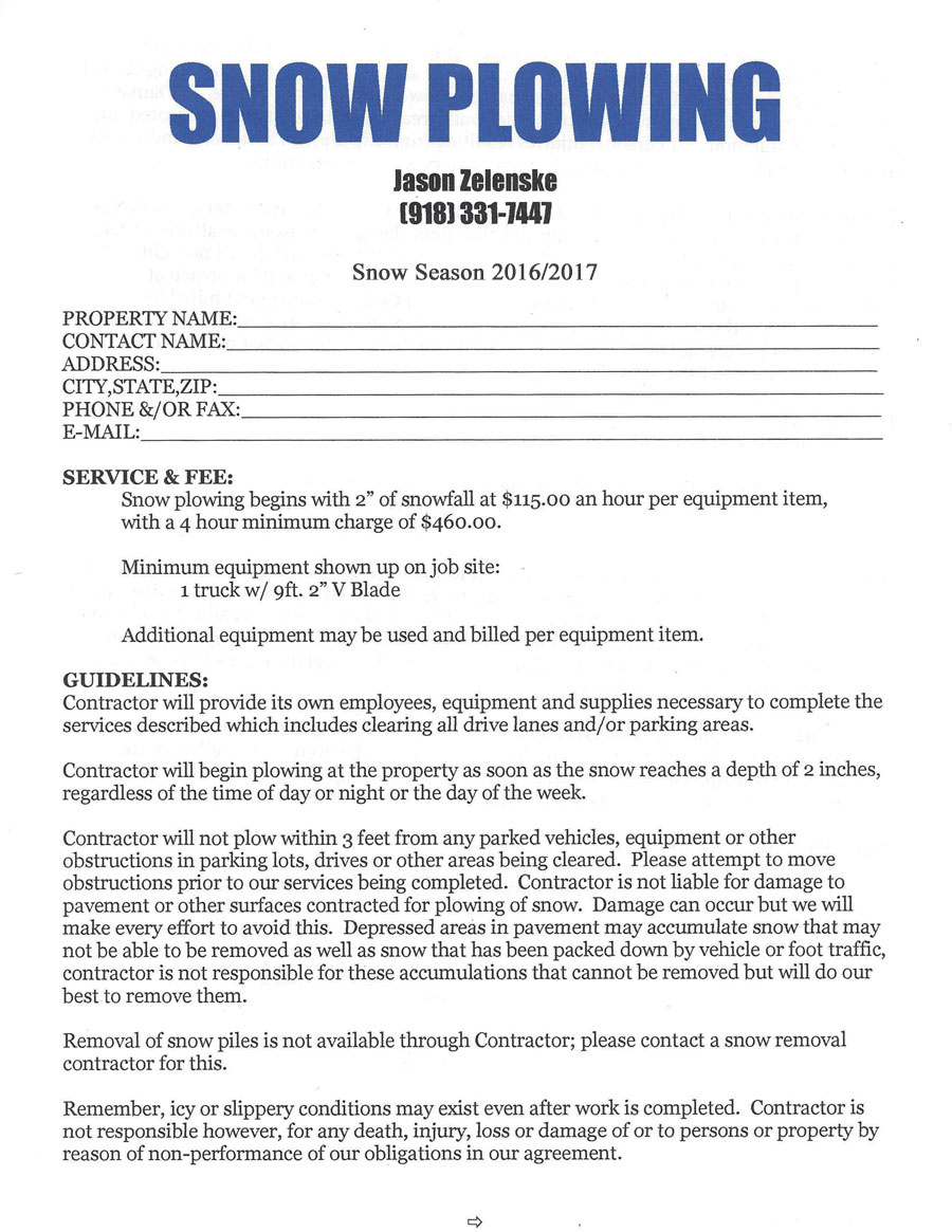 Snow Removal Contract Template Photo Gallery For Website With Snow - Free Printable Snow Removal Contract