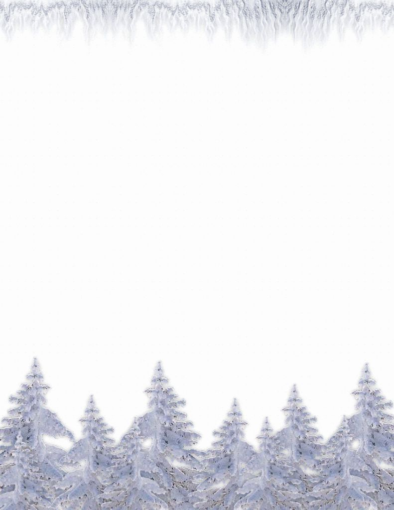 Snowflake Letterhead Template Free Free Winter Writing Paper - Free Printable Winter Stationery
