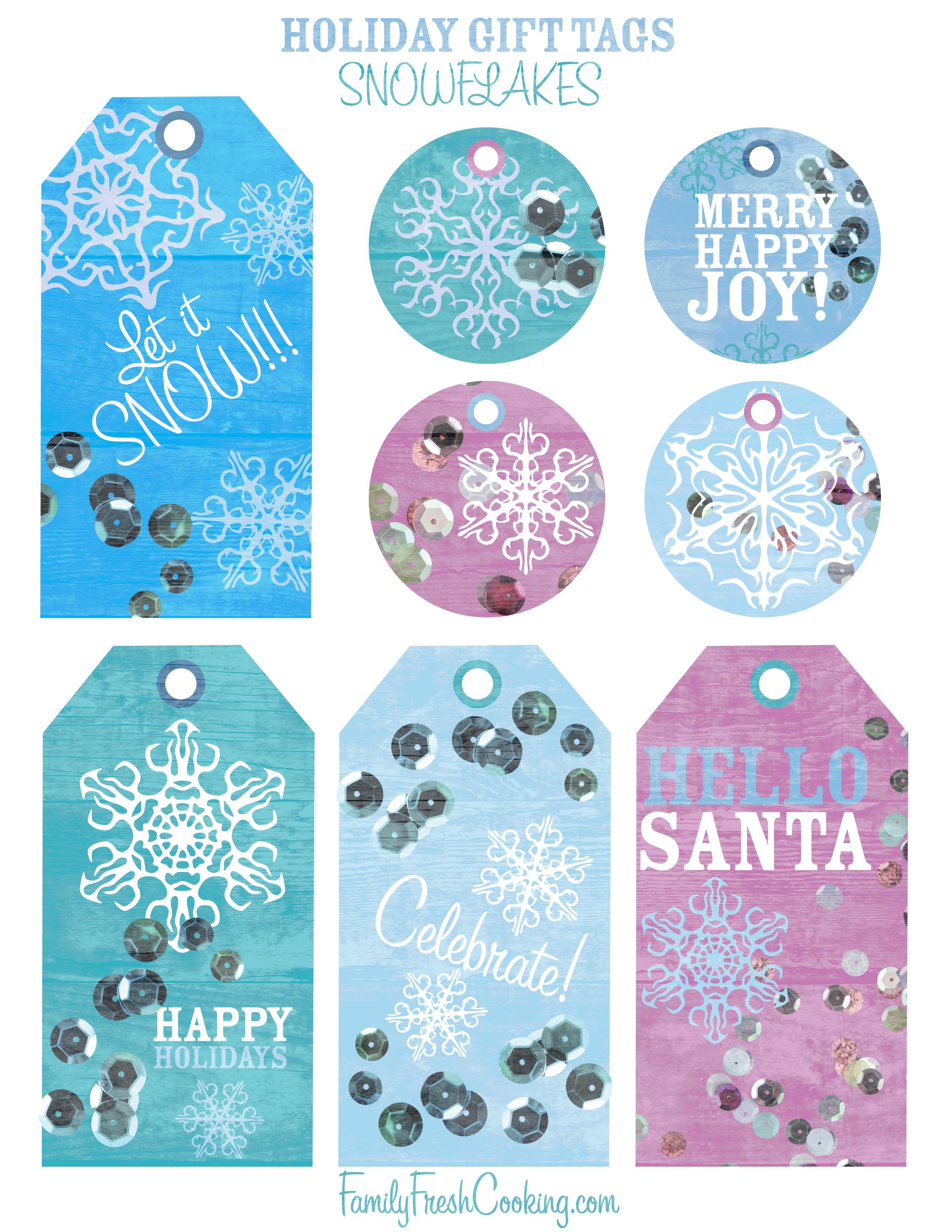 Snowflakes ~ Free Printable Holiday Gift Tags - Marla Meridith - Free Printable Happy Holidays Gift Tags