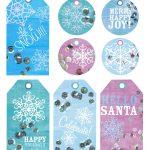 Snowflakes ~ Free Printable Holiday Gift Tags   Marla Meridith   Free Printable Holiday Gift Labels