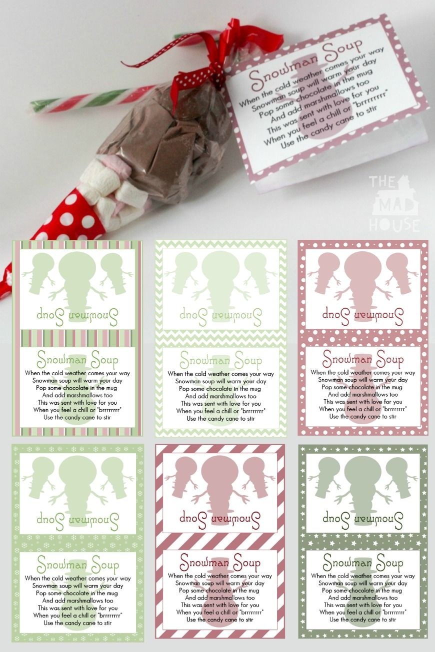 Snowman Soup And Free Printable Labels   Christmas Foods   Pinterest - Snowman Soup Free Printable