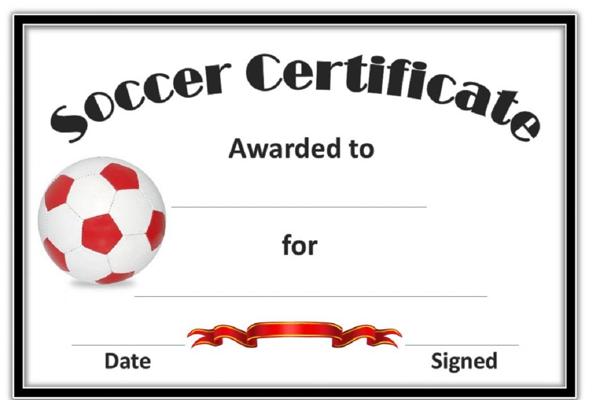 Soccer Award Certificate Templates Free - Reeviewer.co - Free Soccer Award Certificates Printable