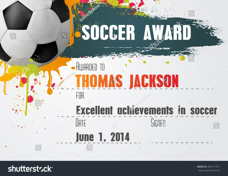 Free Printable Soccer Certificate Templates