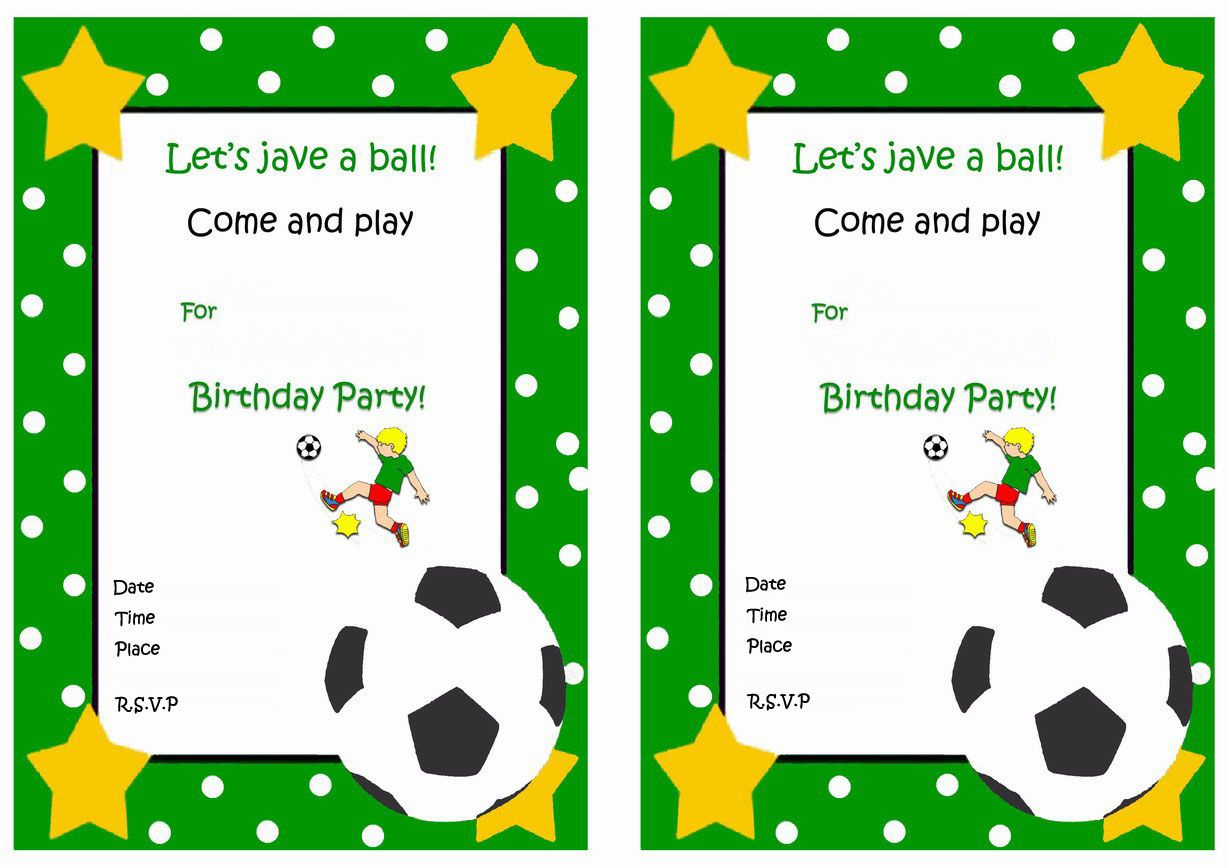 Soccer Free Printable Birthday Party Invitations   Birthday Party - Free Printable Soccer Birthday Invitations