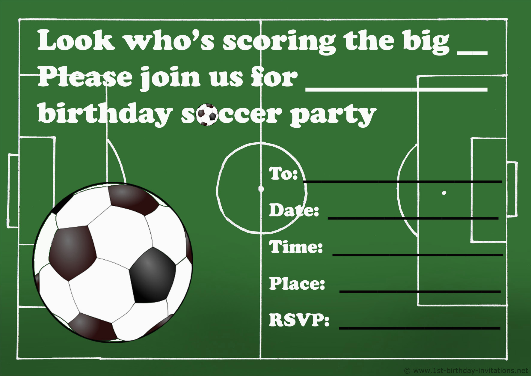 Soccer Invitations For Birthday Party   Birthdaybuzz - Free Printable Soccer Birthday Invitations