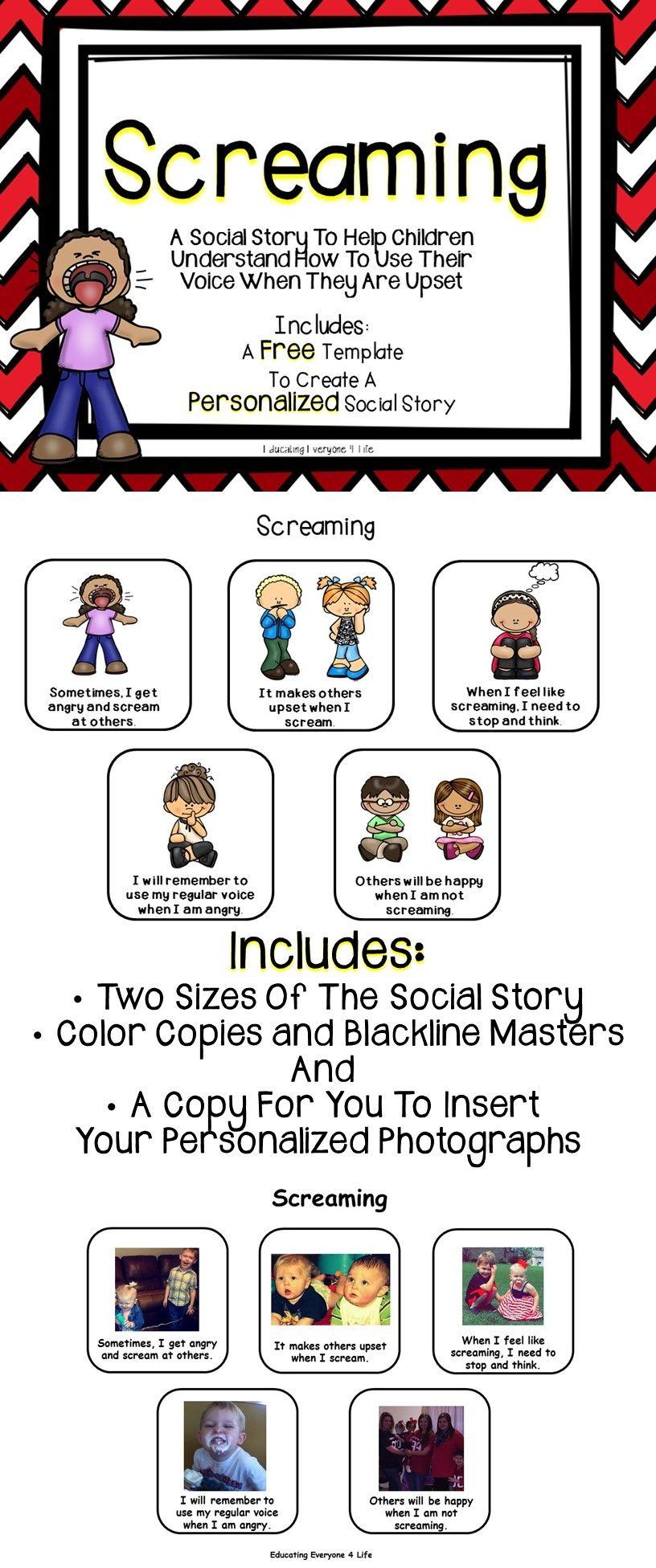 Social Story - Screaming | Favorites | Pinterest | Social Stories - Free Printable Social Stories For Kids