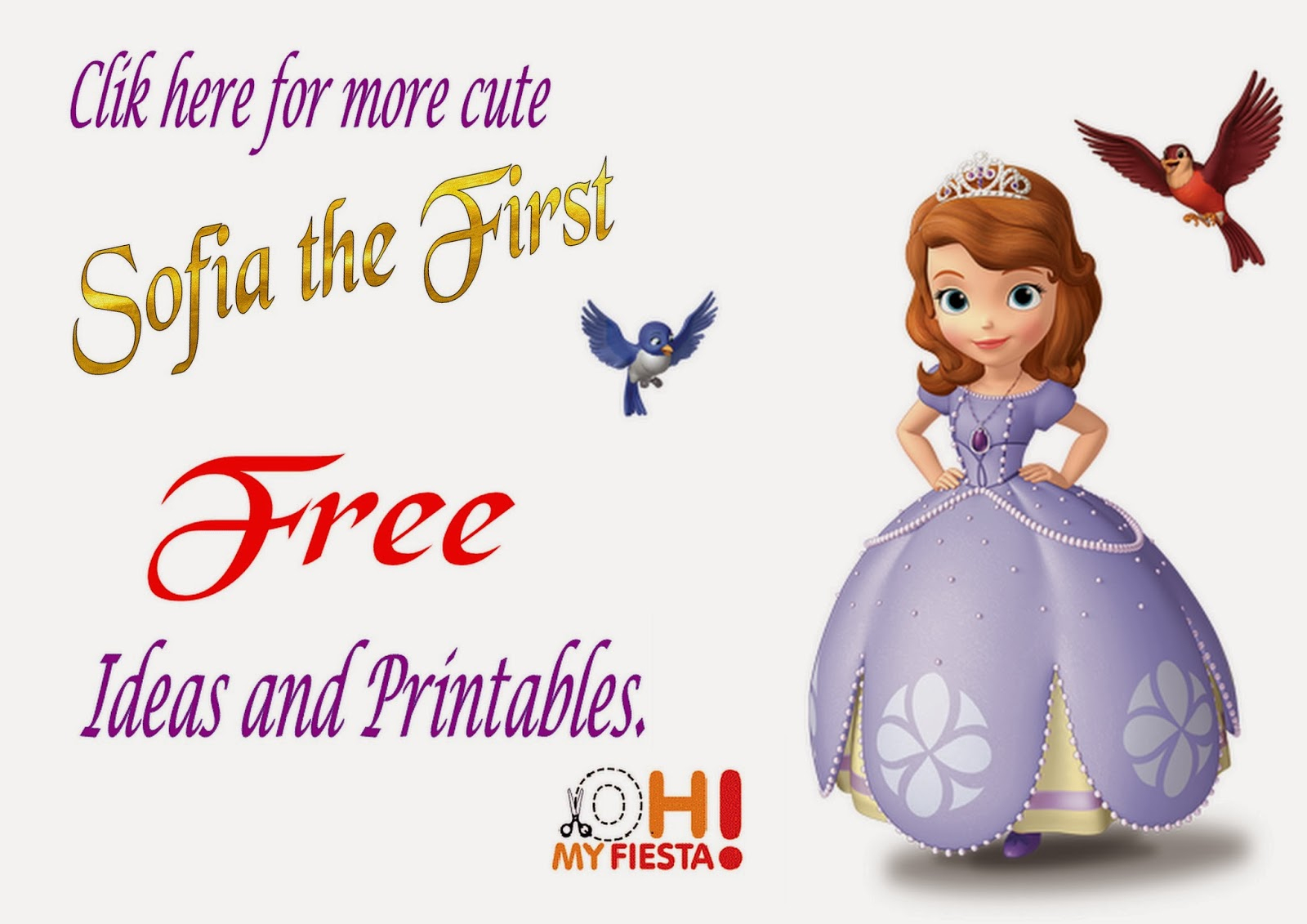 Sofia The First Free Printable Invitations Or Photo Frames. | Oh My - Free Printable Sofia Cupcake Toppers
