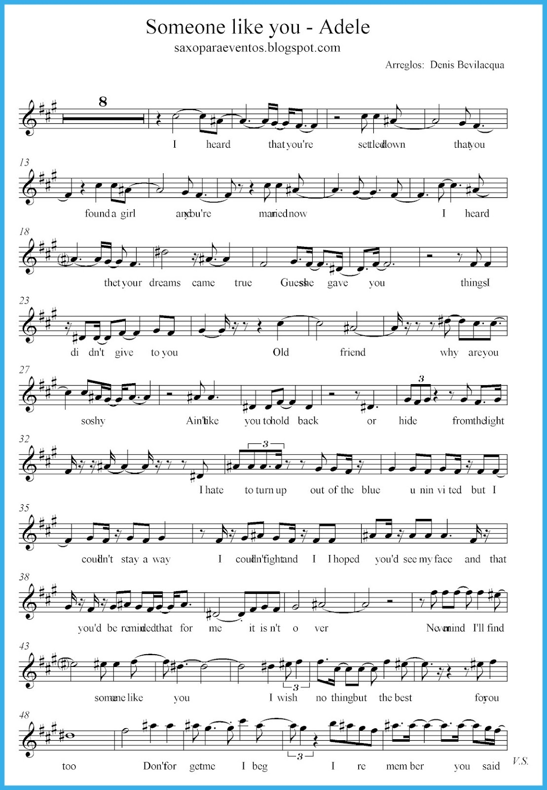 Someone Like You - Adele Score And Track (Sheet Music Free) | Free - Free Printable Sheet Music Adele Someone Like You