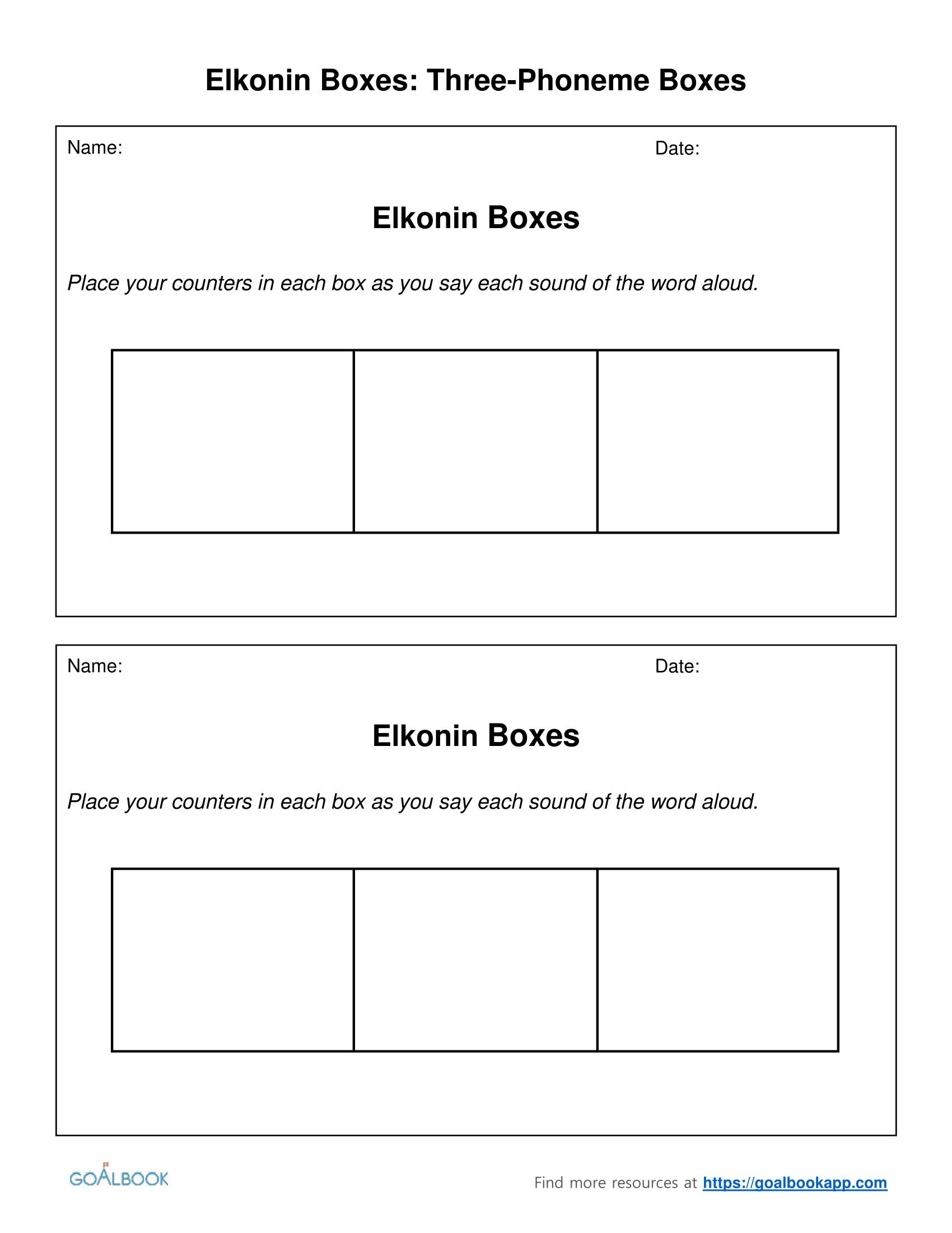 Sound Boxes Printable – Ezzy - Free Printable Elkonin Boxes