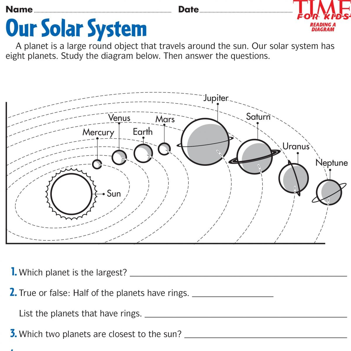 Space Printables   Time For Kids   {Third Grade}   Space Printables - Free Printable Solar System Worksheets
