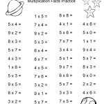 Space Theme   4Th Grade Math Practice Sheets   Multiplication Facts   Free Printable Multiplication Fact Sheets